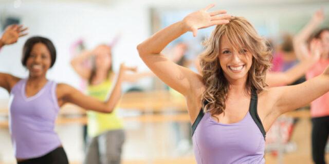 Zumba dancers weight loss