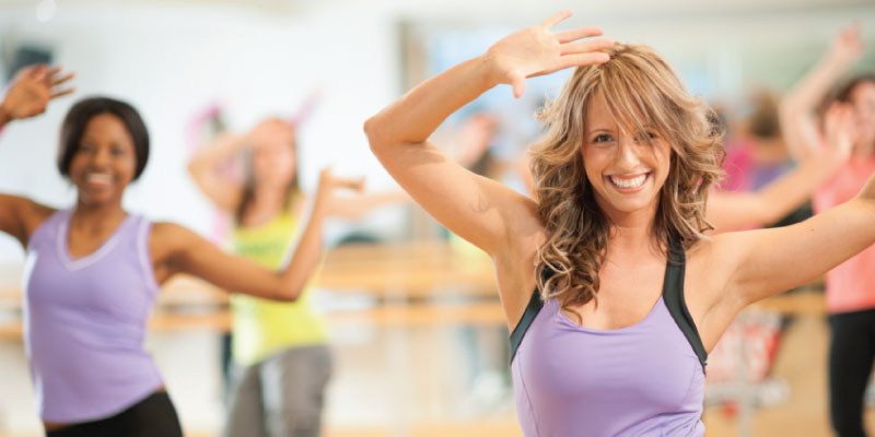 Zumba dancers weight loss